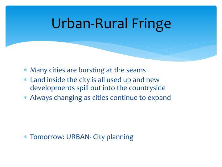 Urban-Rural Fringe