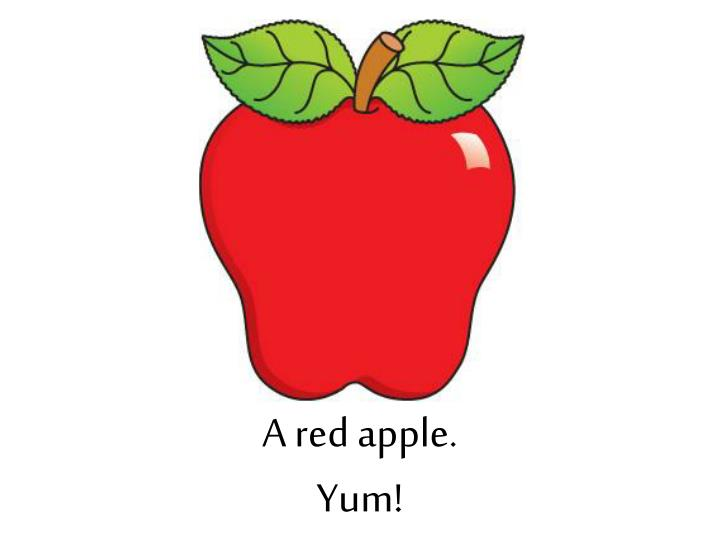 A red apple.
