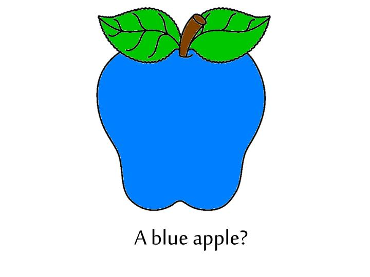 A blue apple?