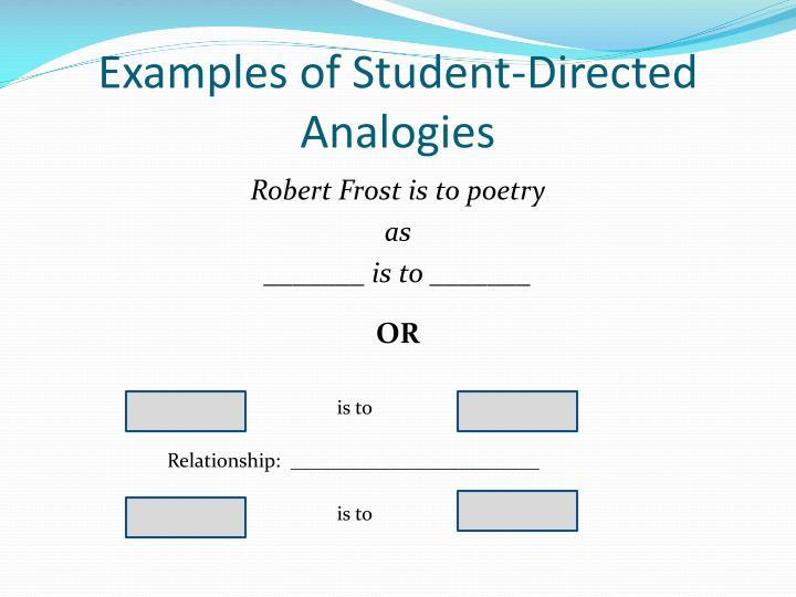 analogy essay ideas
