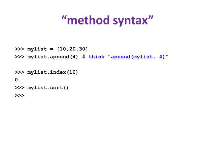 """method syntax"""