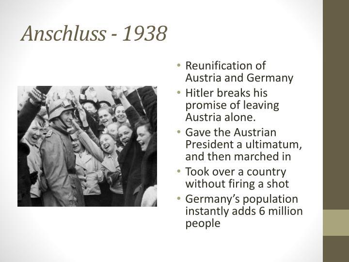 Anschluss - 1938