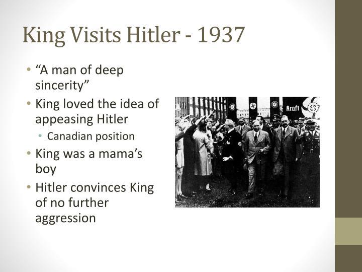 King Visits Hitler - 1937