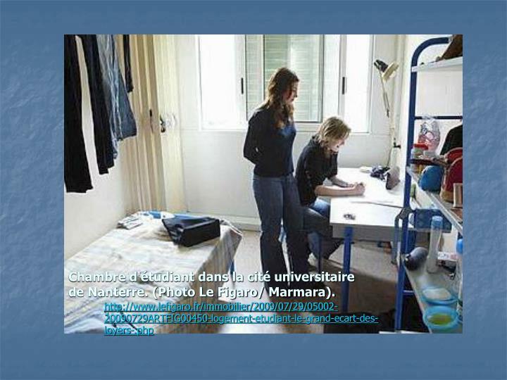 Chambre d'étudiant dans la cité universitaire de Nanterre. (Photo Le Figaro/ Marmara).