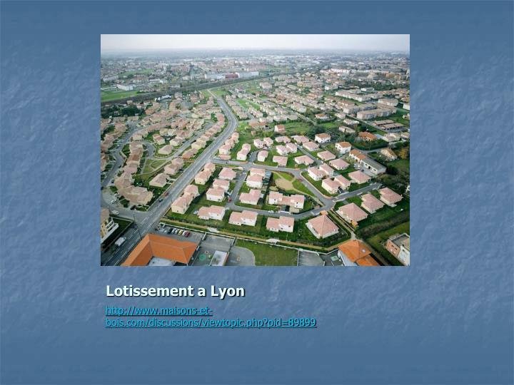 Lotissement a Lyon