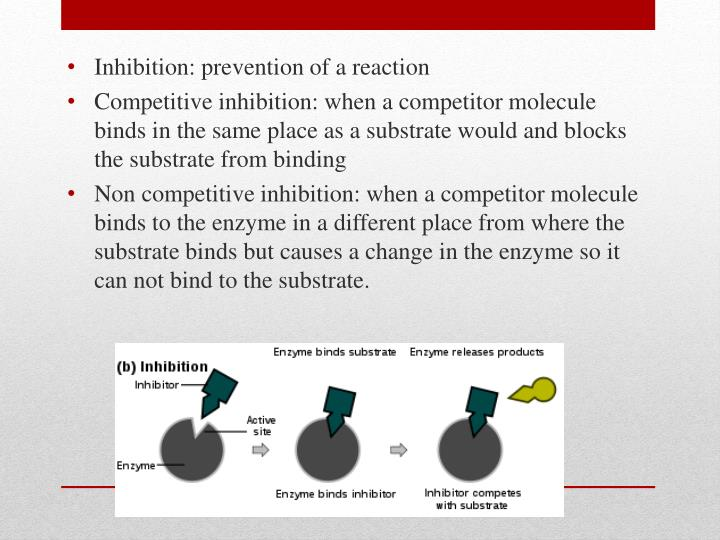 Inhibition: prevention of a reaction