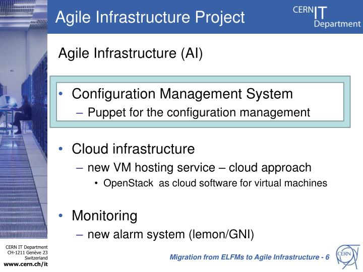 Agile Infrastructure Project