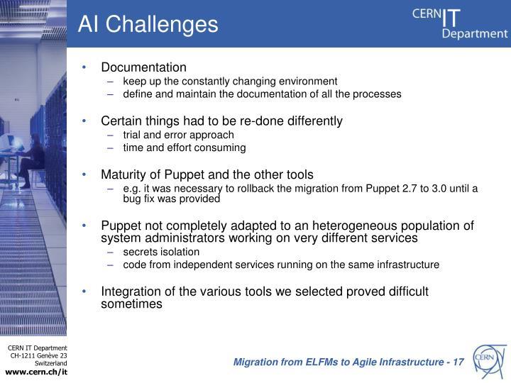 AI Challenges