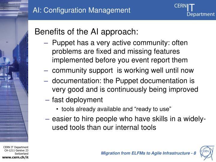 AI: Configuration Management