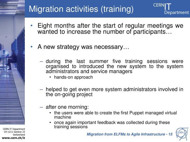 Migration activities (training)