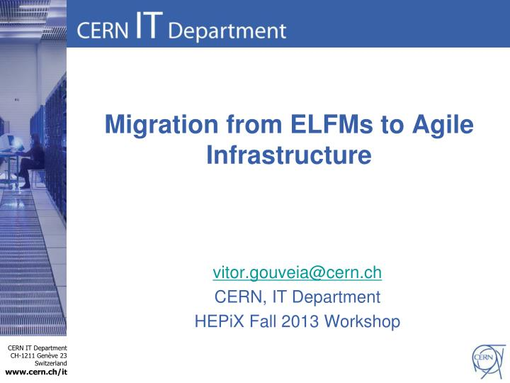 Migration from