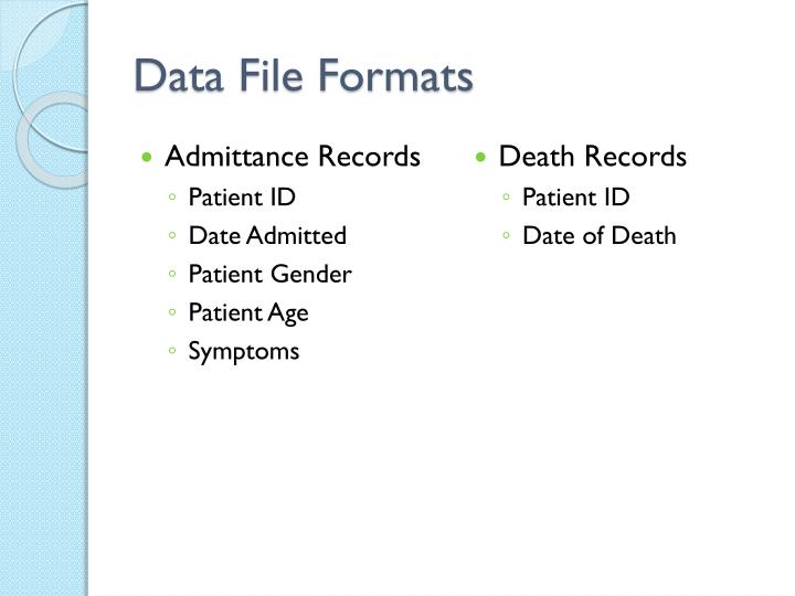 Data file formats
