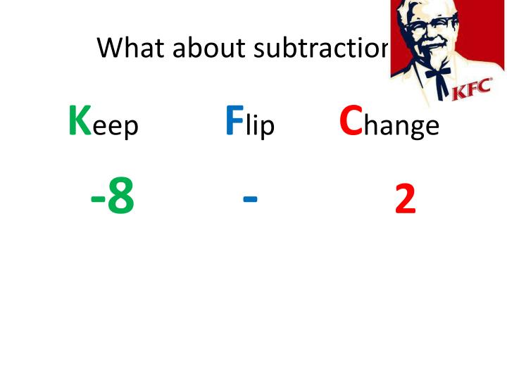 What about subtraction?