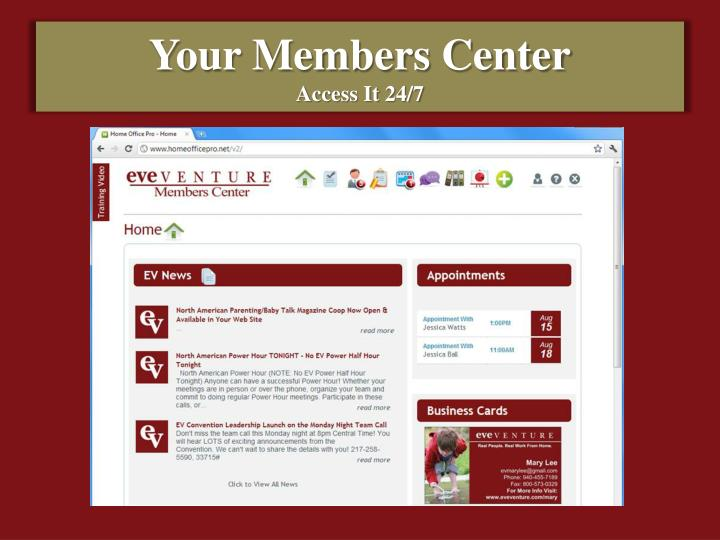 Your Members Center