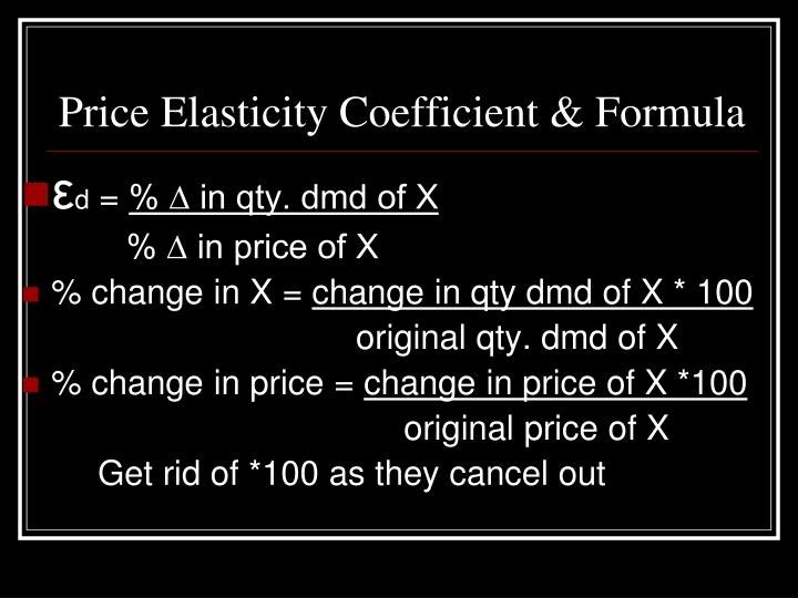 Price Elasticity Coefficient & Formula