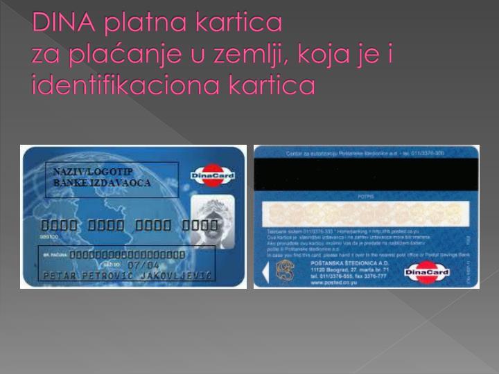 DINA platna kartica