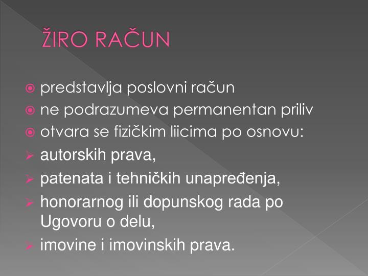 ŽIRO RAČUN