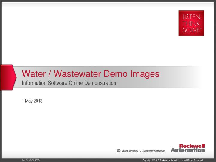 Water wastewater demo images