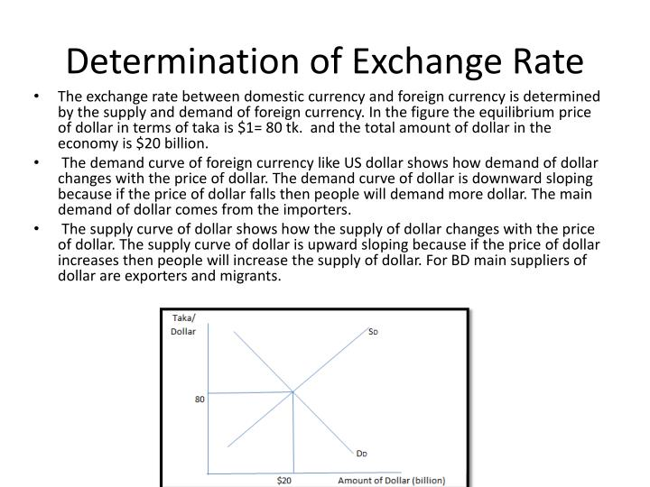 Determination of Exchange Rate