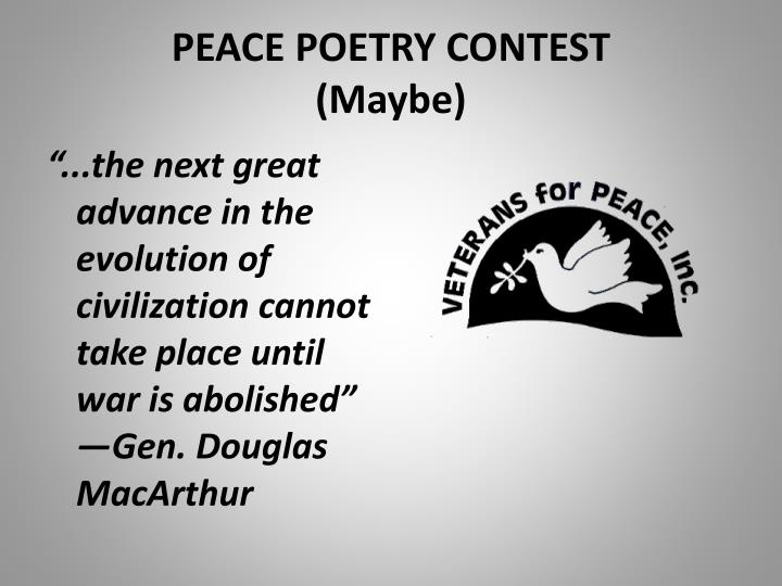 PEACE POETRY CONTEST