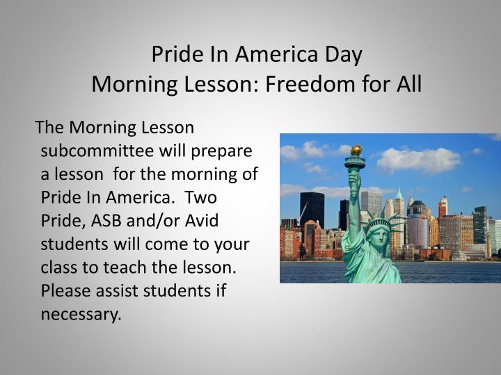Pride In America Day