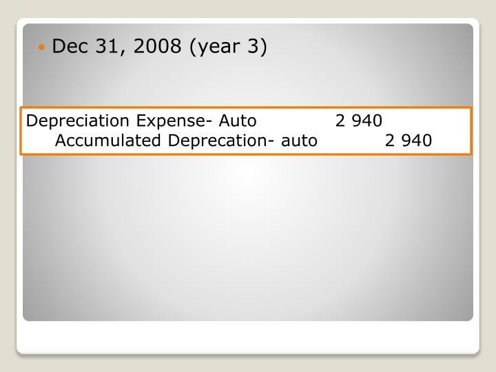 Dec 31, 2008 (year 3)