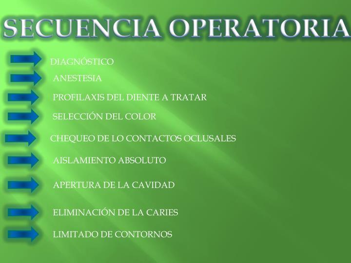SECUENCIA OPERATORIA