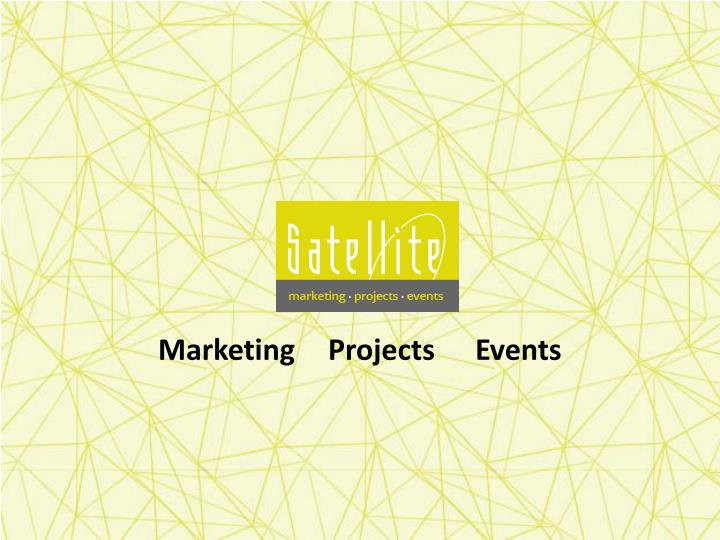 Marketing projects events