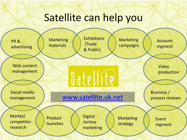 Satellite can help you