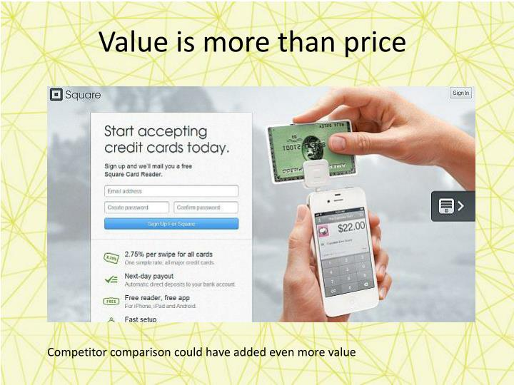 Value is more than price