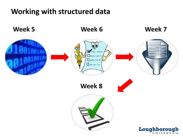 Working with structured data