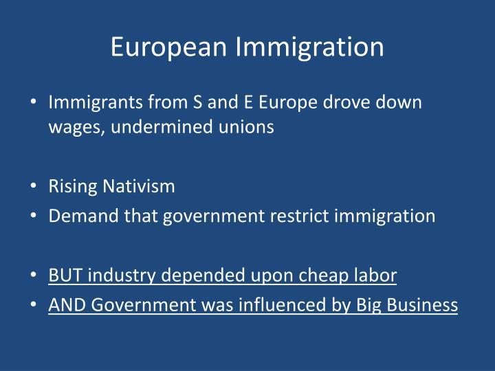 European Immigration
