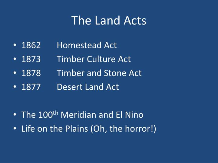 The Land Acts