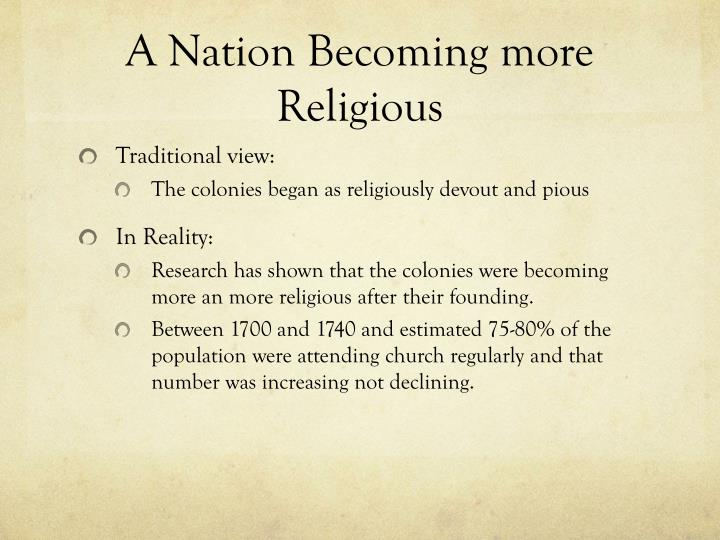 A nation becoming more religious