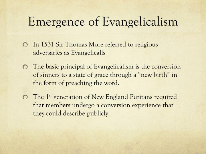 Emergence of Evangelicalism