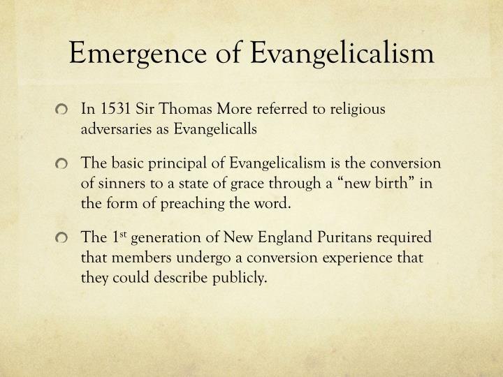 Emergence of Evangelicalism