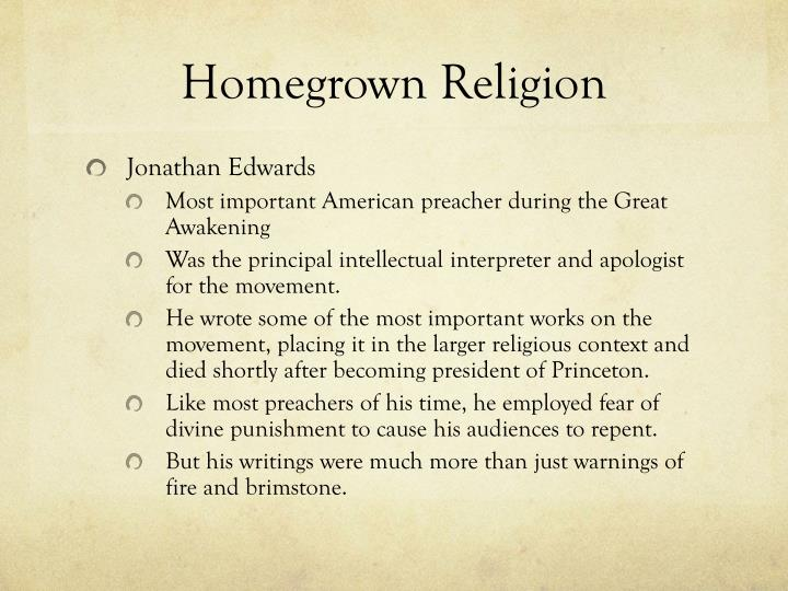 Homegrown Religion