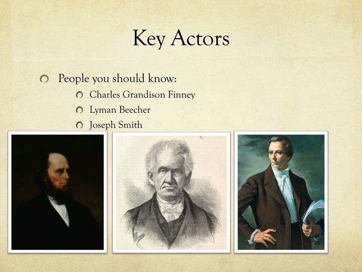 Key Actors