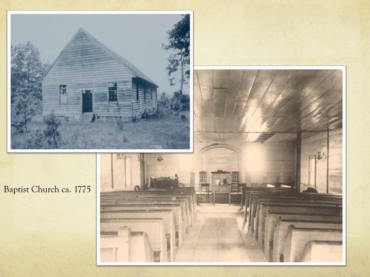 Baptist Church ca. 1775