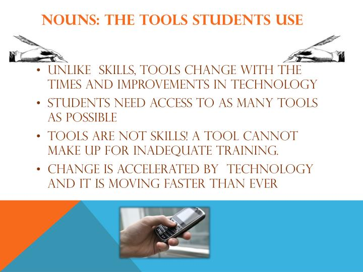 Nouns: The Tools Students Use