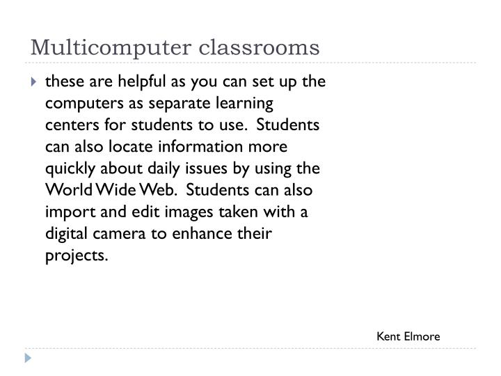 Multicomputer classrooms