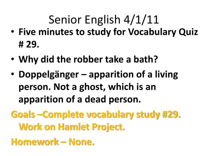 Senior English