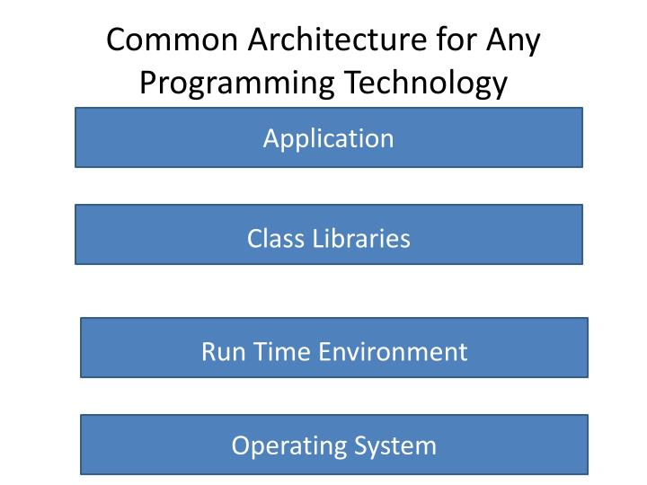 Common Architecture for Any Programming Technology