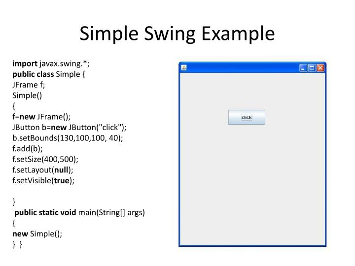 Simple Swing Example