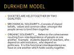 durkheim model