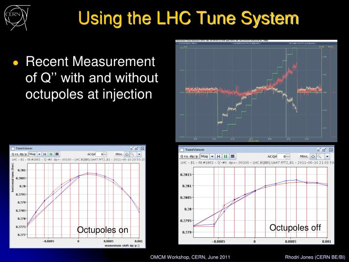 Using the LHC Tune System