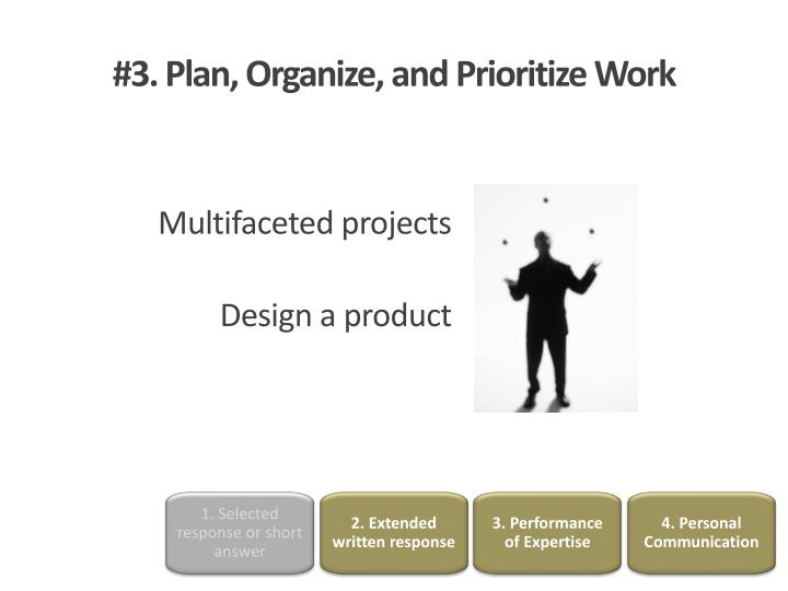 how to plan organize and prioritize work