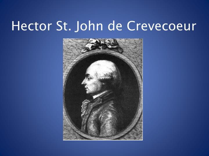 Hector St. John de Crevecoeur