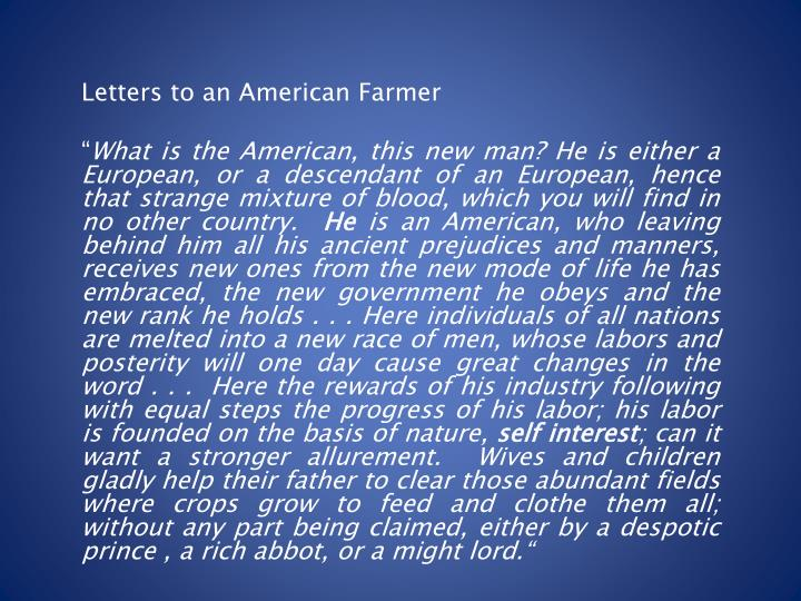 Letters to an American Farmer