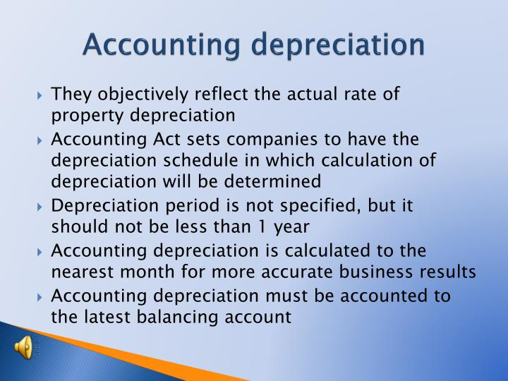 Accounting depreciation